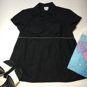 Oh Baby by Motherhood Black Tie Back Shirt, sz L